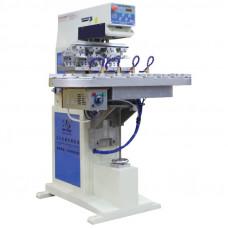 P4/C Автоматический четырехцветный тампопечатный станок с конвейером
